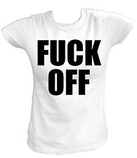 Damen T-Shirt Fuck Off You Fun Biker Punk Party Rock N Roll Sprüche Anti
