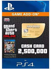 Grand Theft Auto Online: Whale Shark Cash Card $250,0000 PS4 PSN GTA 5 V Code