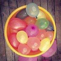 100 bombes à eau minis ballons de baudruches Des ballons d'eau