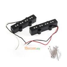 2Pcs/set 4 String Bridge Pickup Black for Jazz Bass Replacement