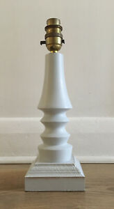 Vintage Painted Wooden Table Lamp (Needs Wiring)