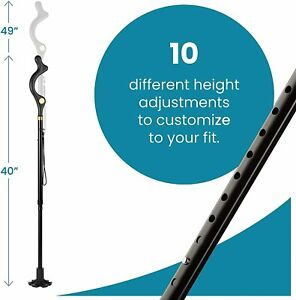 Adjustable Folding Walking Cane Hiking Stick Safety Balancing Travel