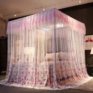 Mosquito Net Luxury Bed Canopy Lace Princess Netting Bed Mosquito Net No Frame