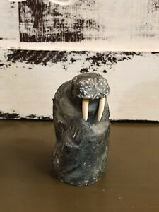 Vintage Inuit Art Carving  Walrus   - Artist Luke