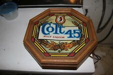 """Vintage Colt 45 beer sign - lighted and about 12"""" diameter hexagonal shape"""