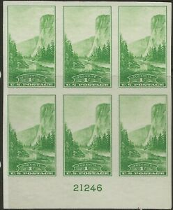 SC SC 756--1 CENT NATIONAL PARKS ISSUE PLATE NUMBER BLOCK---67