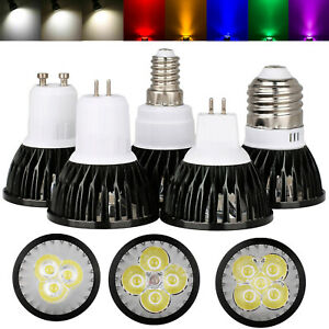 Dimmable LED SpotLight Bulbs E27 GU10 MR16 E14 GU5.3 9W 12W 15W Lamp 220V 12V SA