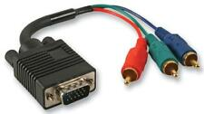 15 Pin VGA (D Sub) Male to 3x Phono (RCA) Male Lead, 200mm Black