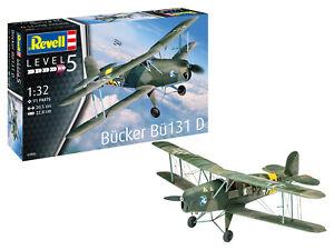 Revell 03886 Bücker Bü-131 Jungmann, Flugzeug Modellbausatz 1:32