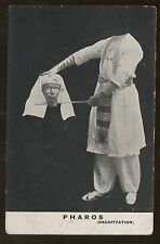 Magic Magician Illusionist Pharos Decapitation Post Card