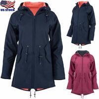 Womens Winter Fur Lined Jacket Coats Ladies Waterproof Parka Overcoat Outwear US