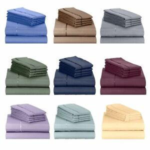 Bamboo Deep Pocket Sheet Sets by Lexington, All Sizes, ECO Friendly - 31 Colors