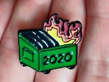 Dumpster Fire 2020 Pin Lapel T-Shirt Enamel Badge New