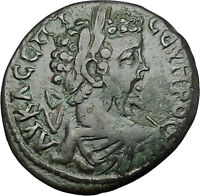 SEPTIMIUS SEVERUS 193AD Marcianopolis Tyche Lucky Goddess Roman Coin i50895