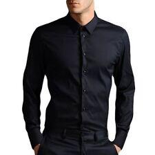 Unbranded Men's No Pattern Cotton Regular Collar Casual Shirts & Tops
