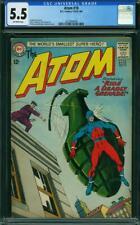 Atom #10 CGC 5.5 -- 1963 -- Classic Hand Grenade.  Murphy Anderson #2033844008