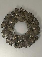 Vintage Metal Sea Shell Wreath Trivet / Wall Hanging - Coastal Beach Decor