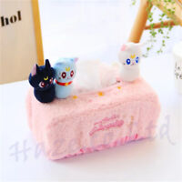 Anime Sailor Moon Cat Luna Plush Napkin Tissue Box Cover Home Decor