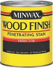 Minwax 227184444 Wood Finish Penetrating Interior Stain Pint Ebony