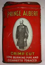 Antique Vintage Collectible Prince Albert Crimp Cut Tobacco Cigarette Tin