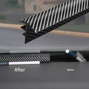 Carbon Fiber Sealing Strip Dashboard Soundproof Dustproof 1.6M Car Accessories