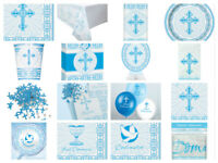 1st First Holy Communion Confirmation Boys Blue Radiant Cross *Multi Listing*