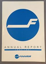 FINNAIR ANNUAL REPORT 1990-91 FINLAND MD-11 DC-10