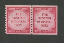 """1970 Us """"For Testing Purposes Only"""" Test Stamp #Td108 Mint Never Hinged Pair"""