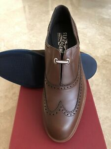 NIB Salvatore Ferragamo Frankfort Wingtip  Loafer 9EE
