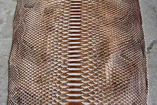 Genuine Python Leather Hide Snake Skin Pelt Bronze & White Real Curtus