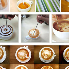 DIY Coffee Latte Cappuccino Stainless Steel Art Pen Tool Espresso Cafe Kitchen