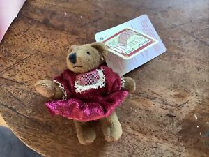 """RUSS Tiny Town Jointed Plush Teddy Bears Special Occasion Dress 3""""  Miniature"""