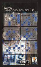 Cleveland Cavaliers--1999-00 Magnet Schedule--Hershey's