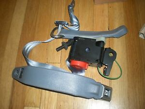 NOS 1984 FORD TEMPO FRONT SEAT BELT ASSEMBLY RH CHARCOAL
