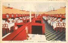 1940s Van Schuyler Restaurant Interior Albany New York Teich postcard 3903
