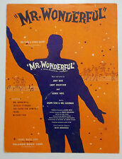Broadway Musical Sheet Music Mr. Wonderful Jule Styne Valando Publ.