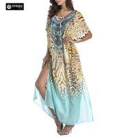 Vestito Lungo Copricostume Donna Maxi Dress Caftano Woman Kaftan Dress COV0072