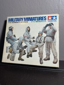 Vintage New Tamiya 1/35 Scale Military Miniatures German Flak Crew