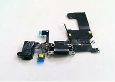 BLACK Charging Port Headphone Jack Mic Connector Antenna Flex Cable for iPhone 5