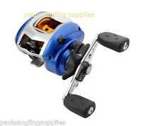 ABU BLUE MAX LEFT HAND WIND BAIT CASTING FISHING REEL