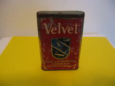 VINTAGE VELVET 2 OUNCES PIPE AND CIGARETTE TABACCO TIN BLUE TAX LABEL