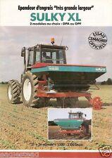Farm Equipment Brochure - Sulky - DPA DPF XL - Epandeur d'engrais - 1991 (F1531)