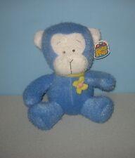 "New 10"" Baby Blue Teddy Bear Stuffed Plush Animal w/ Yellow Flower Chest"