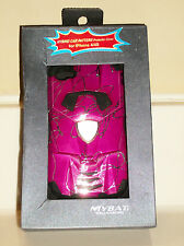 MyBat Apple iPhone 4/4S Curved Lines Hot Pink w/Silver Car Hybrid Case Cover NIB