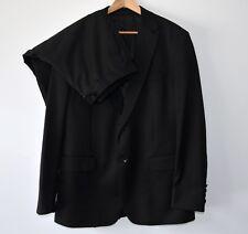 2 Pieces men suit jacket 43 R pants 40 R black Shoot collection 2 buttons wool