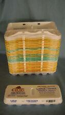 30 used Styrofoam Egg Cartons All Large arts crafts dozen multi color