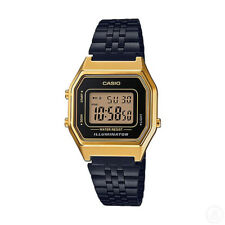 CASIO Vintage Retro Series Black Gold Classic Digital Ladies Watch LA680WEGB-1A