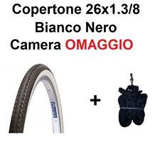 Copertone Bici 26 Bianco Nero Olanda Passeggio City 26x1 3/8 Gomma Pneumatico