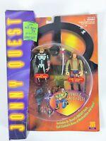 Jonny Quest  Evil Ezekial Rage Jungle Commando Dr Quest Figures - 1995 Galoob