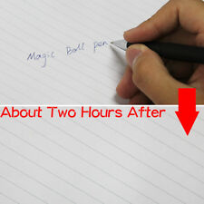 Magic Ball Pen Invisible Disappear Slowly Ink in 2-3 hours Black Save Paper